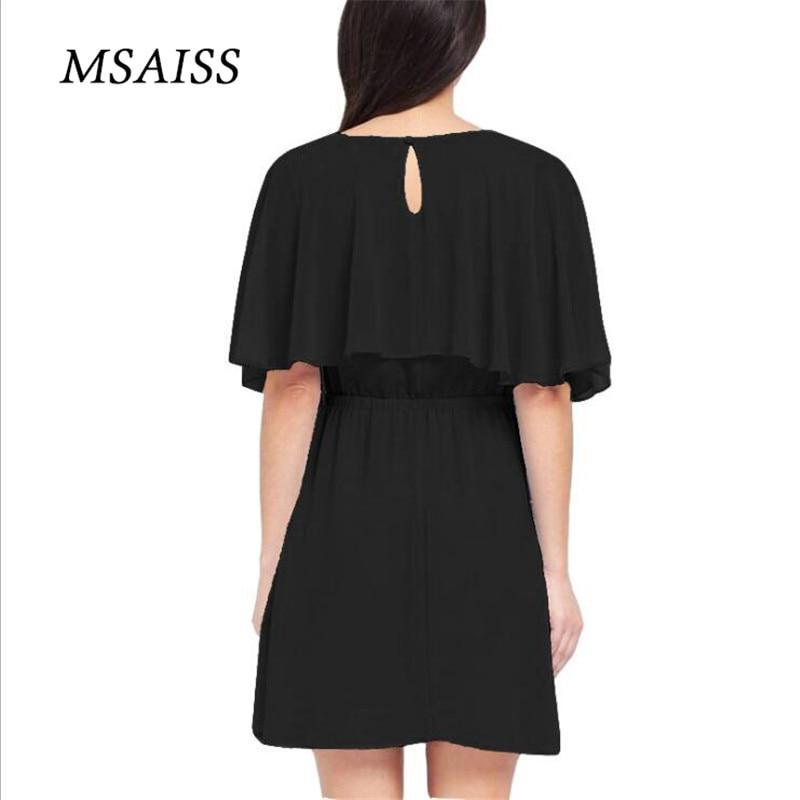 MSAISS Wanita Musim Panas Gaun 2017 Gaun Pesta Hitam Wanita Gaun - Pakaian Wanita - Foto 4
