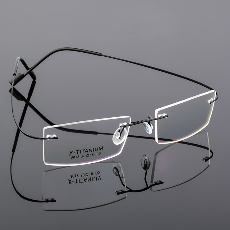 d7bd6e7701 Detail Feedback Questions about ltra light rimless Optical frame men women Memory  Titanium Rimless eyeglasses non screws for Myopia Prescription with 9 ...