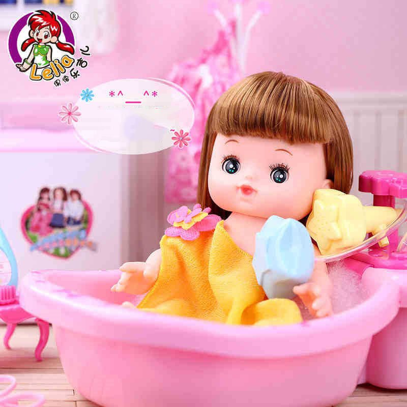 Lelia baby dolls combination doll suit Gift Box kawaii funny toy pretend play shower Toys dolls for girls Children Birthday Gift kawaii baby dolls