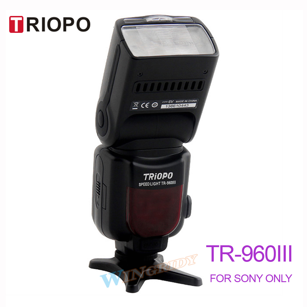 Triopo TR-960III Flash Light TR960III Speedlite Manual flash Universal For SONY DSLR sony sony hvl f45rm flash