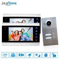 Jeatone 7 Multi Apartment Video Door Phone Video Intercom Doorbell System 1200 TVL Camera Touch Key
