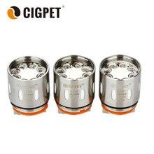 Original 3pcs CIGPET Coil for Smok TFV12 ECO-T12/Smok TFV12 Coil X4/Q4/T12/T16/T14 Coil for Smok TFV12 Tank Cigpet ECO 12 Tank