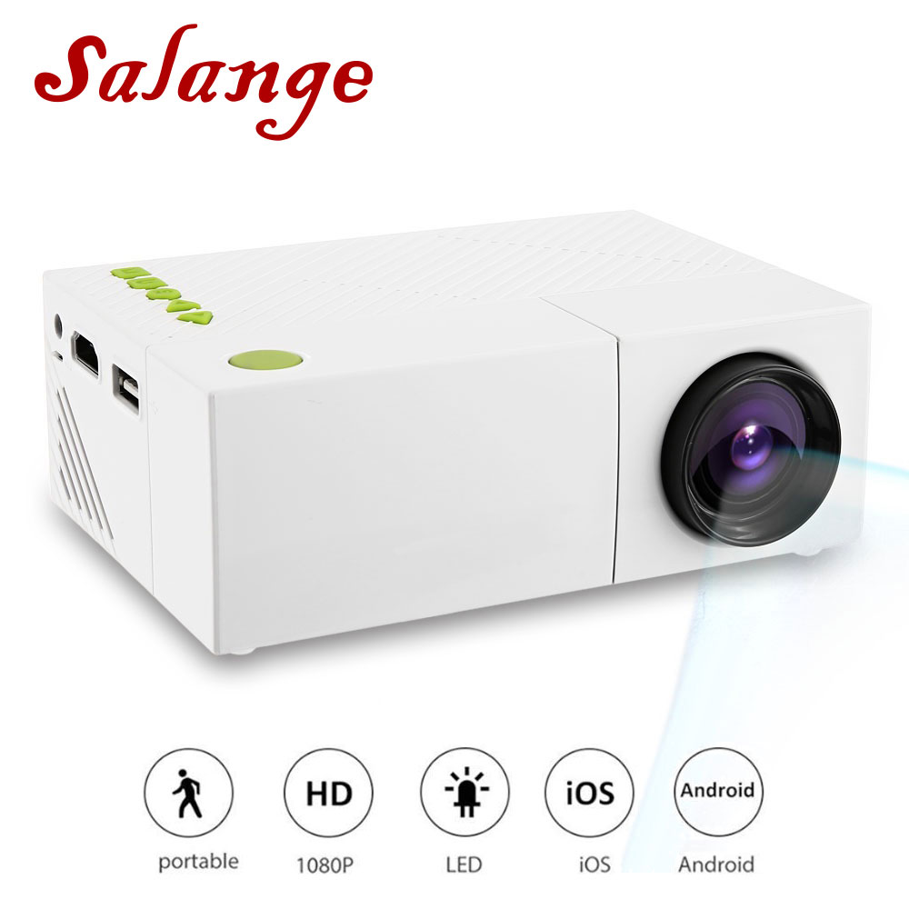 YG310 Mini Portable LCD Projector Home Theater Proyector USB SD AV HDMI 600 Lumens 1080P HD
