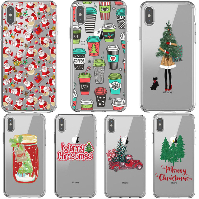 3b0c67e54a Vogue girl Case For iPhone X XS MAX XR Merry Christmas New Year elk clear Soft  Phone Cover For iPhone 5 5s SE 6 6SPlus 7 8 Plus
