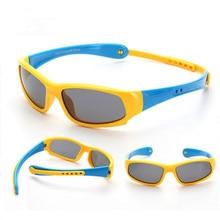 No easily broken Kids TR90 Polarized Sunglasses Children Safety Brand Glasses Fl