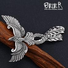 Beier 316L paslanmaz çelik Charm Phoenix kolye çin mitolojik bir hayvan kolye yüksek kalite takı hediyeler LLBP8-204P