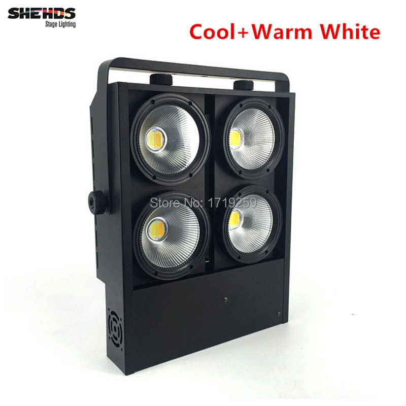 4eyes 4x100w LED Cob Light DMX Stage Lighting Effect Led Blinder Light Fast Shipping  rasha brand 2 100w 2in1 cob ww cw led blinder light stage audience studio blinder light theater light