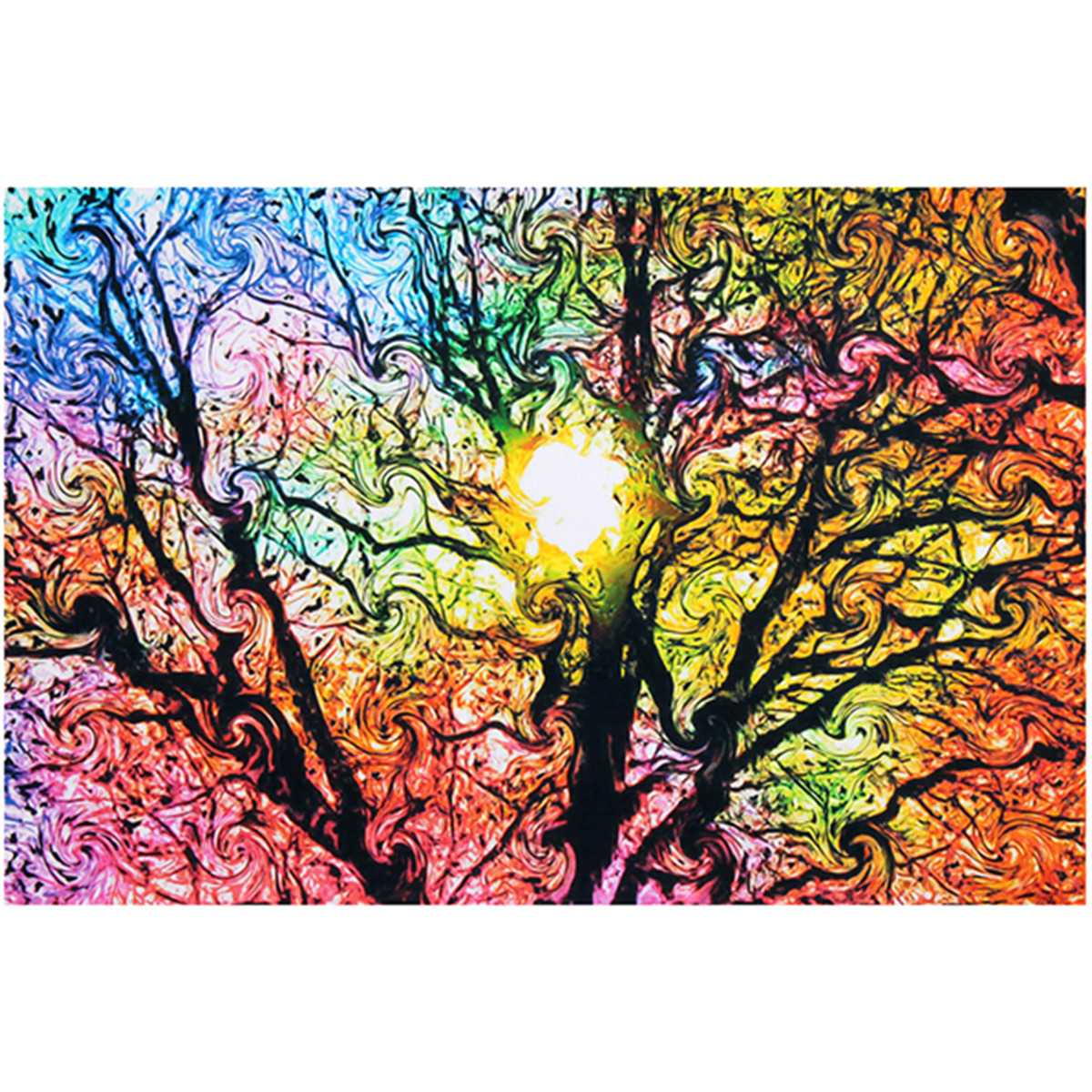 new sun patterns abstract canvas painting nature art picture poster wall picture 33 50cm home. Black Bedroom Furniture Sets. Home Design Ideas