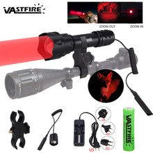 UF-T20 Tactical Weapon Gun Light 1Mode XPE R5 Led Red/Green Zoomable Scout Lantern Pistol Hunting Rifle Scope Flashlight Torch(China)