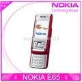 Reformado nokia e65 teléfono móvil abierto original del teléfono celular gsm cuatribanda teléfono 3g wifi bluetooth email mp3 envío gratis