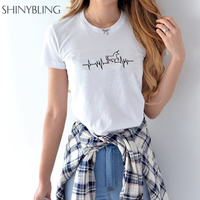 Summer 2017 Women Harajuku Fashion Cute Print Horse Shirt Short Sleeve Casual Cotton T Shirt Plus