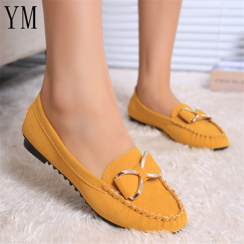 Flat Shoes Women Autumn Slip On Shoes For Loafers Moccasin Womens Zapatos Mujer Ballet Flats Knot Womens Shoes Woman Doug Shoe