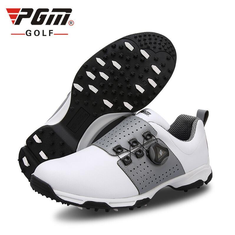 Esportes ao ar Tênis de Golfe Microfibra à Prova Sapatos de Golfe Homens Livre Respirável Água pu Anti-derrapagem Rotação Cadarço Pgm d'
