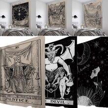 95x73 см гобелен с карточками Таро, настенное покрывало с астрологией гадания, пляжный коврик для йоги, Винтажный Классический гобелен с рисунком