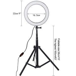 Image 5 - LED anneau lumière 8.6 pouces caméra Ringlight trépied support pour téléphone pour YouTube Tiktok photographie vidéo Photo Studio lampe Kit