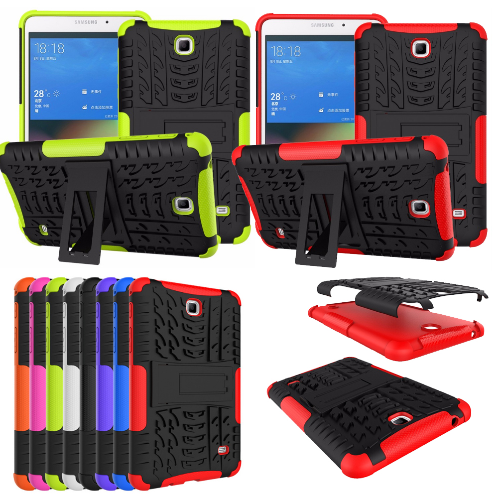 New Armor For Samsung Galaxy Tab4 7.0 T230 T231 Case Shockproof TPU+PC Stand Funda Cover For Samsung Tab 4 T230 Cover Case