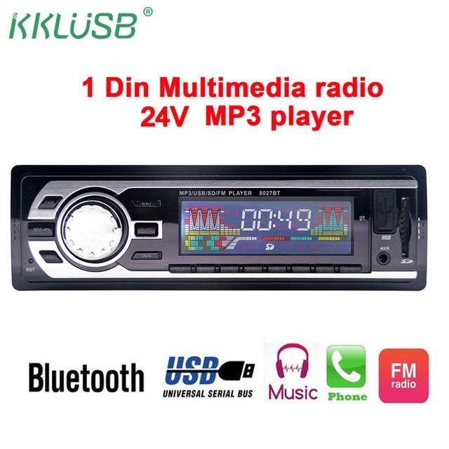 car radio 1 din 12v 24v bluetooth car stereo in dash fm usb auxcar radio 1 din 12v 24v bluetooth car stereo in dash fm usb aux input mp3 player wma auto radio player oto teypleri autoradio