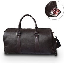цены Leather Travel Weekender Overnight Duffel Bag Gym Sports Luggage Bags for Men Medium Black