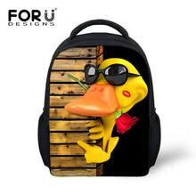 New Arrival Funny Small Yellow Duck Style backpacks kindergarten baby school back pack bag cool frog print mochila feminina bags