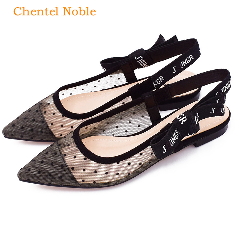 2018 Papillon Sandales Taches New Chunky Lace Femme Slingbacks Mujer Zapatos Noir As Picture De Bohême up Summer Femmes Maille noeud Chaussures rzr7wqf