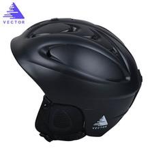 VECTOR Brand Ski Helmet Men Women Children Snowboard Helmet High Quality PC+EPS Ultralight Snow Skating Skateboard Skiing Helmet