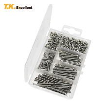 T.K.EXCELLENT Phillips Flat Head Screws Assortment Kit Stainless Steel Set M3*10 M3*20 M3*30 M3*35 260 Pcs/Lot