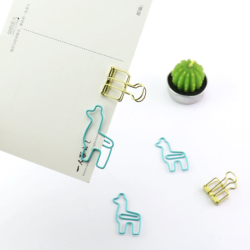 Купить креативные милые металлические офисные и школьные зажимы пачки