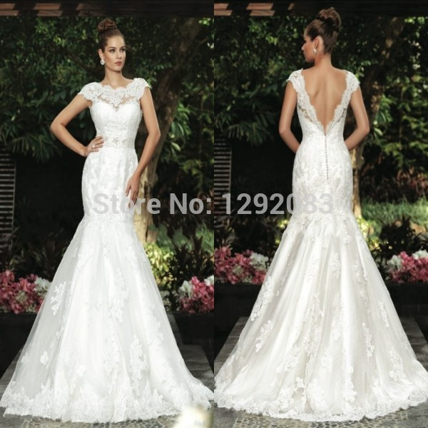 66modest scoop neck cap sleeves lace low back corset for Low back corset for wedding dress