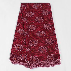 Image 3 - Latest African Lace Fabric Soft Swiss Lace Fabric With Stones High Quality Embroiderey Cotton Swiss Voile Lace In Switzerland