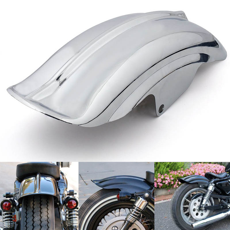 Black/Silver Motorcycle Superior Rear Mudguard Fender Accessory for 1994-2003 Harley Sportster 883 883R 1200 black silver motorcycle superior rear mudguard fender accessory for 1994 2003 harley sportster 883 883r 1200