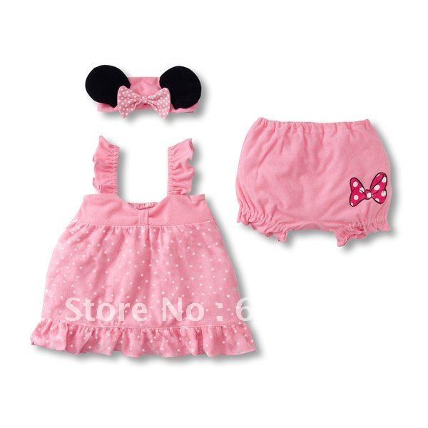 Stock Clearance Quality  Girls Clothes Suits Pink Girl Clothing 3-pc Set Baby CLothes Children Clothes