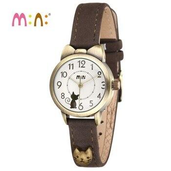 Luxury Brand Women Watches Waterproof Leather Bracelet Ladies Quartz Wrist Watch 3D Cat Watch Clock Hours Woman 2020 Reloj Mujer