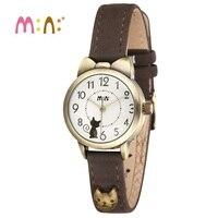 Luxury Brand Women Watches Waterproof Leather Bracelet Ladies Quartz Wrist Watch 3D Cat Watch Clock Hours Woman 2017 Reloj Mujer