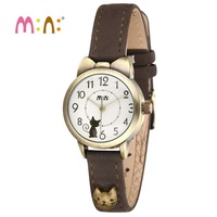 Luxury Brand Women Watches Waterproof Leather Bracelet Ladies Quartz Wrist Watch 3D Cat Watch Clock Hours Woman 2017 Reloj Mujer