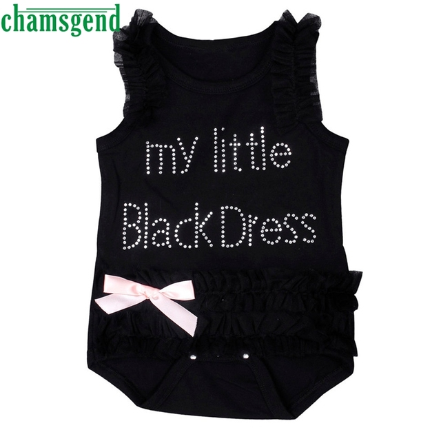 Summer Dress Kids Fashion Baby Girls Embroidered Lace Little Black