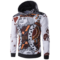 New Arrival Men Hoodies With Hood Fashion Printing Poker Pullovers High Quality Assassins Creed Hoodies Men