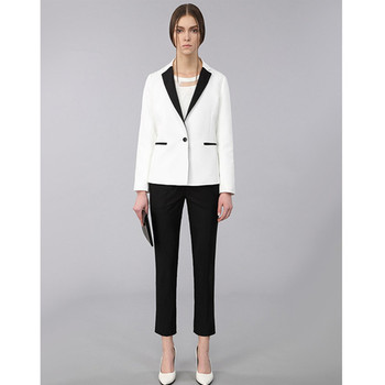 Formal White Women suits New Spring Winter Ladies Office Uniform Style Elegant Work Clothes