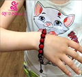 RED SNAKE Fashion 2017 Hand knitting Rhinestone Ball Face Glitter Crystal Beads Bracelet