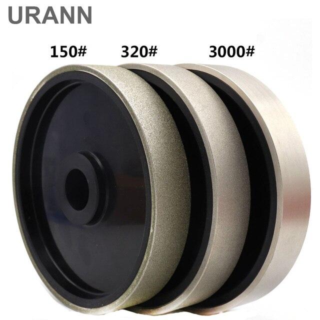 """URANN 1 шт. 6 """"дюймов 150x25 мм Алмазная Шлифовальная головка Алмазная покрытая мягкая резина, шлифовальный круг для драгоценных камней полировка жадеита абразивный инструмент"""
