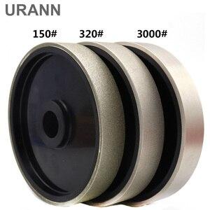 "Image 1 - URANN 1pcs 6"" inch 150x25mm Diamond Grinding Wheel Diamond Coated Soft Resin Grinding Wheel For Gem Jade Polishing Abrasive Tool"