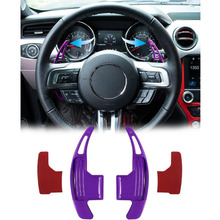 Chuang Qian 2Pcs Steering Wheel Dull Polish Shift Paddle Shifter For 2015-2019 Ford Mustang (Purple) 2pcs red aluminum alloy paddle shifter extension for ford mustang 2 3 t 2015 2016