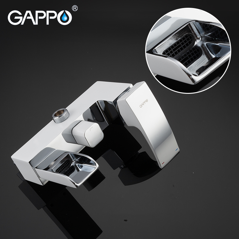 GAPPO Bathtub faucets massage showers for bathroom wall mounted shower heads chrome polished waterfall rainfall bath mixer
