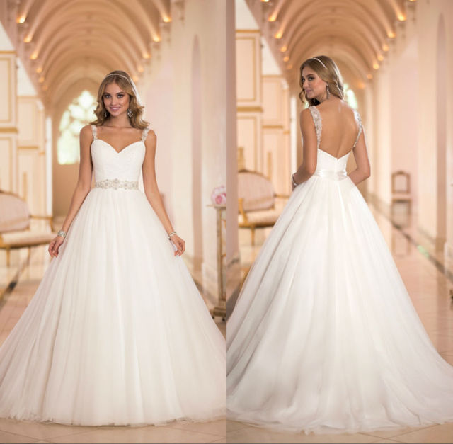 2014 Ball Gown Sweetheart Neckline Spaghetti Strap Zipper Back ...