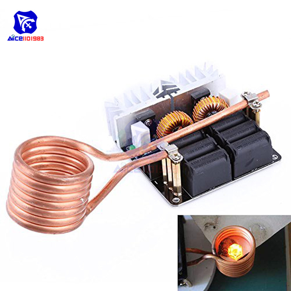 DC 12 -48V 20A 1000W ZVS Heating Module Low Voltage Induction Heating Board Module with Tesla CoilDC 12 -48V 20A 1000W ZVS Heating Module Low Voltage Induction Heating Board Module with Tesla Coil