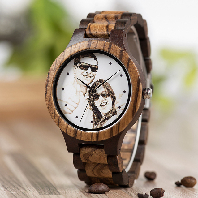 BOBO BIRD Personal customize Men Watch Family Birthday Gift Quartz Bamboo Watches Men's Wristwatch Engrave Logo 2