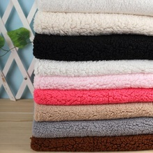 Fabric cotton velvet polyester sherpa plush for Handmade Sewing Curtain Needlework DIY craft quilt cover leisure wear Wh