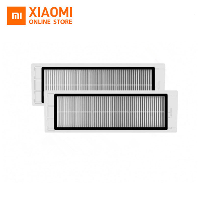 Original Xiaomi MI Robot Vacuum Cleaner Part Pack HEPA Filter 2 Pieces 2pcs robotic vacuum cleaner robotic parts pack hepa filter for xiaomi mi robot filters cleaner accessories