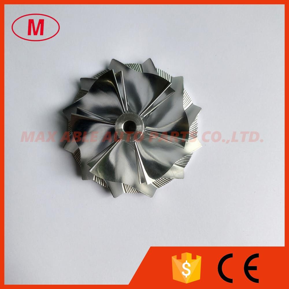 TD03 10T 6 6 blades 38 00 48 00mm high performance Turbo Billet milling aluminum 2618