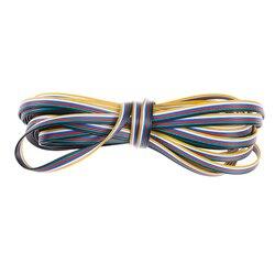 10M 6 Pin kabel drutu 22 AWG RGB złącze przedłużające niebieski/czerwony/biały/zielony/czarny/żółty dla taśmy Led RGB + wtc w Złącza od Lampy i oświetlenie na