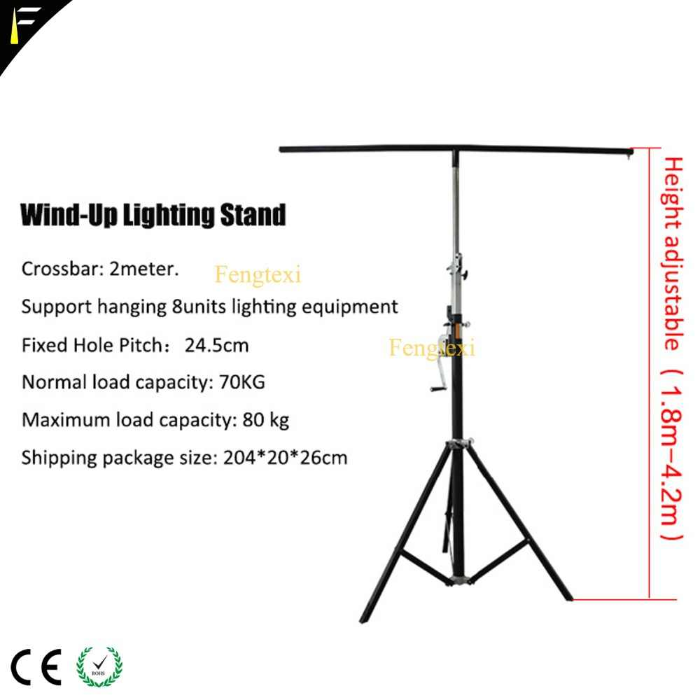 Panggung LED PAR Can Light Lipat Tripod Angin Stand Lampu Tripod Bracket dengan Single/Double Mistar Gawang Gantung 8 lampu Pemegang